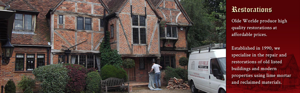 Building restorations throughout Aylesbury