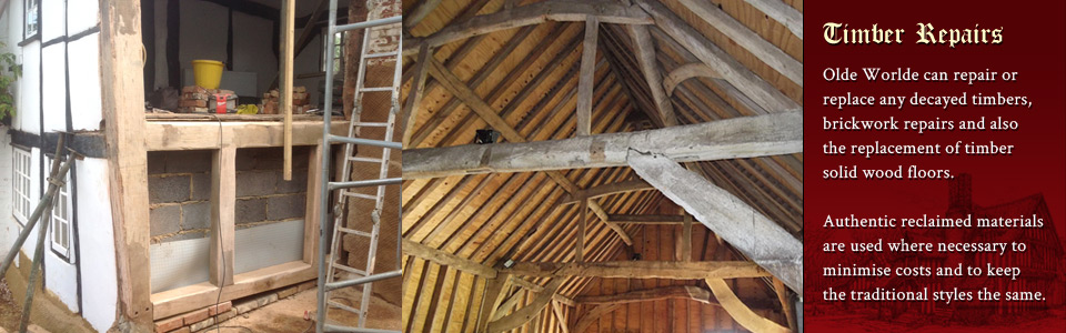 Timber frame repairs throughout Aylesbury and Thame